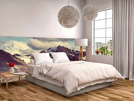 Decorazioni Per Casa Montagna : Testiera letto in pvc motivo paesaggio di montagna facile da