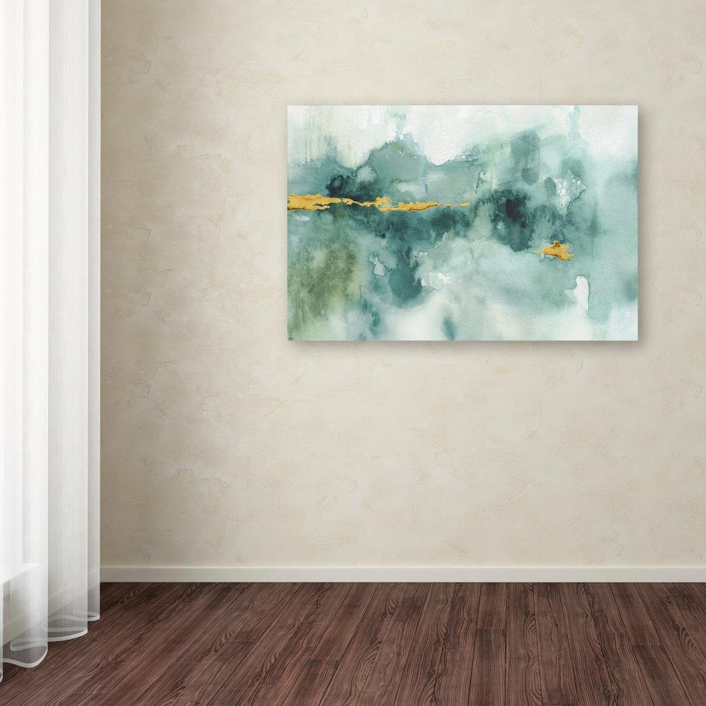 My Greenhouse Abstract I Crop Blue by Lisa Audit, 30×47-Inch Canvas Wall Art