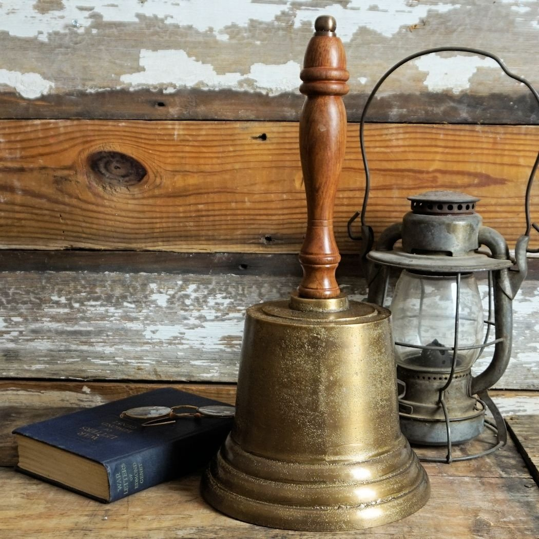 Giant Distressed Hand Bell by A Simpler Time (Image #1)