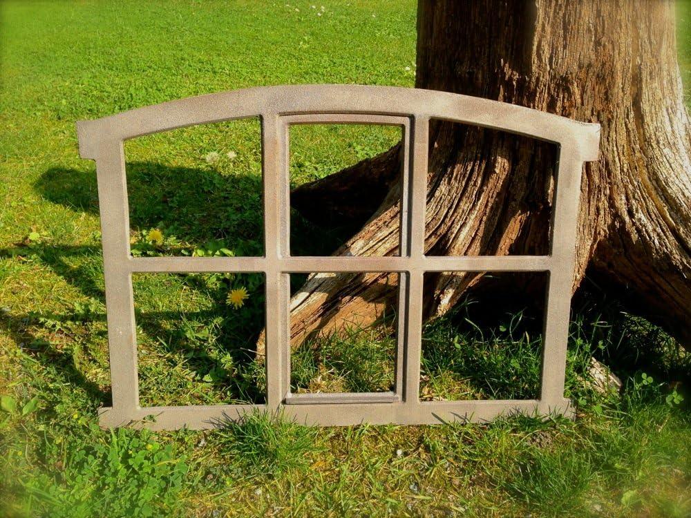 Antikas - ventana de hierro fundido para el muro de jardín - ventana de establo - decoración muro ventana como antigua