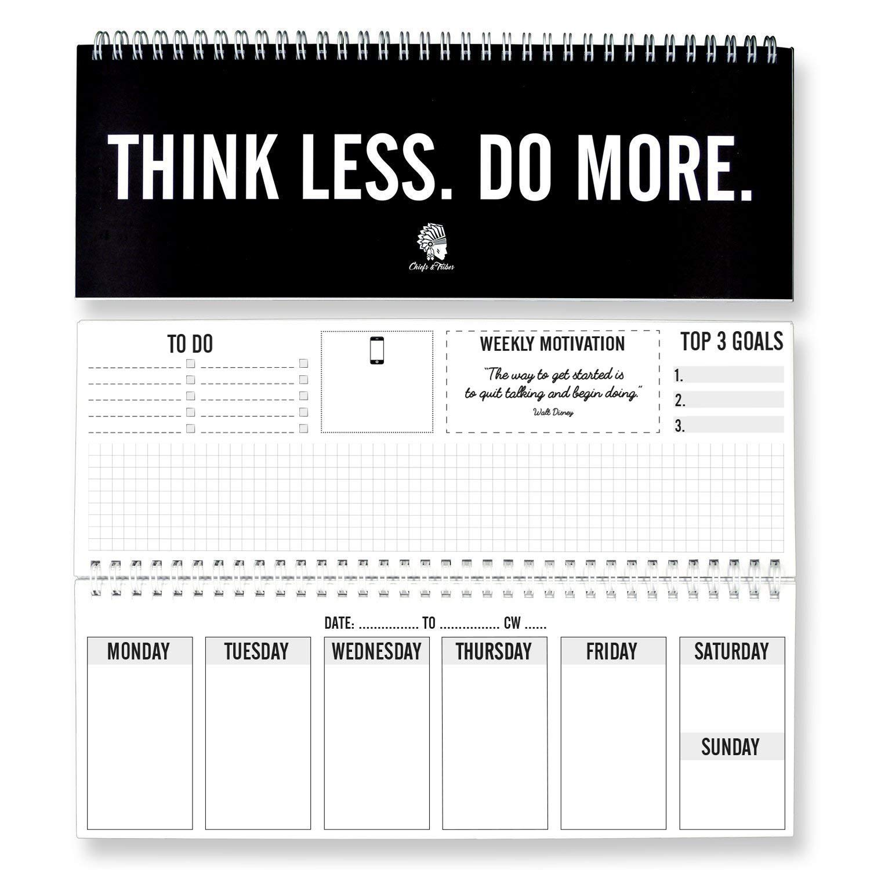 Chiefs Tribes Weekly Desk Pad Calendar 2019 I To Do Notepad I