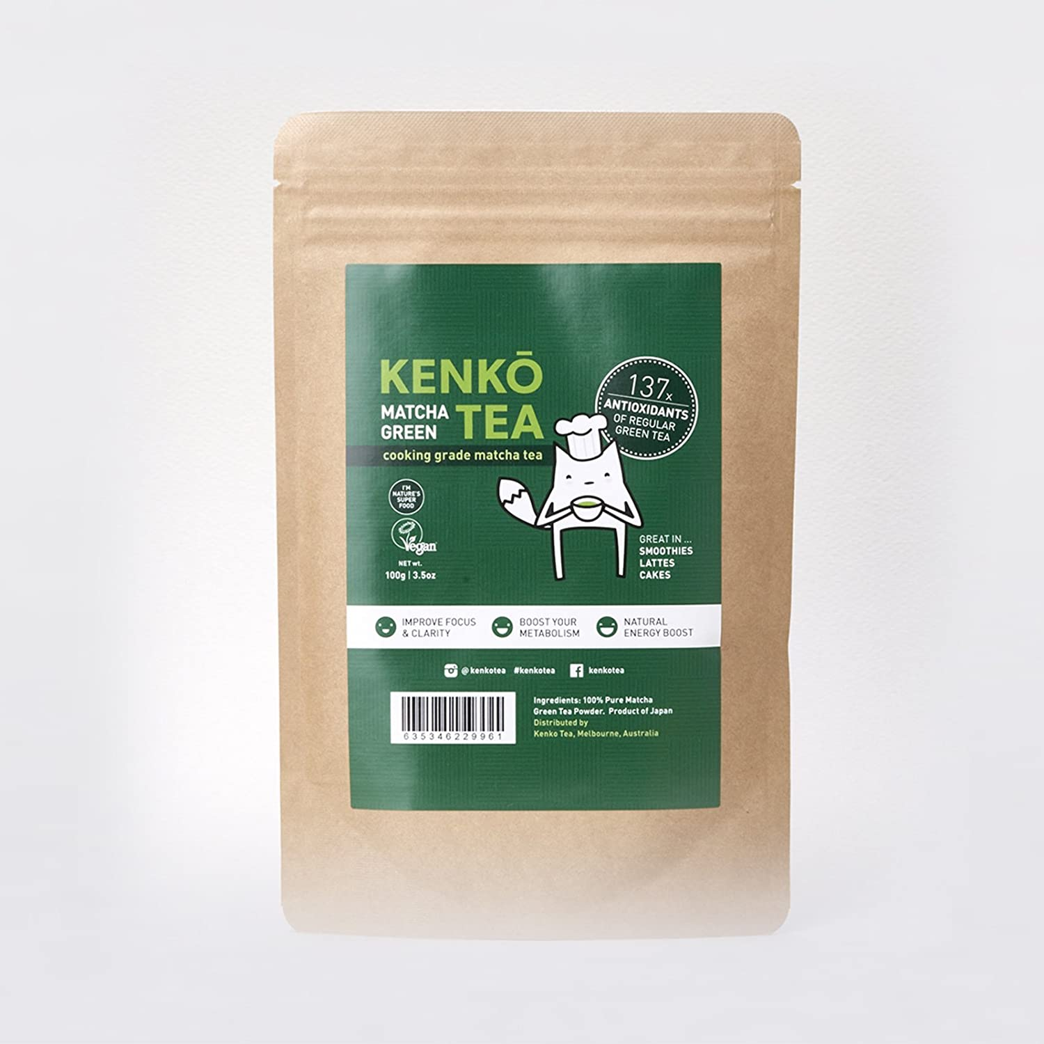 KENKO - Premium Matcha Green Tea Powder - 1st Harvest - Special Drinking Blend for Top Flavor - Best Tasting Ceremonial Grade Matcha Tea Powder - Japanese -30g [1oz] Kenko Tea SYNCHKG061285