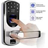 Ardwolf A60 Biometric Door Lock, Keyless Entry Fingerprint and Keypad Electronic Smart Locks with Backup Keys for Homes…