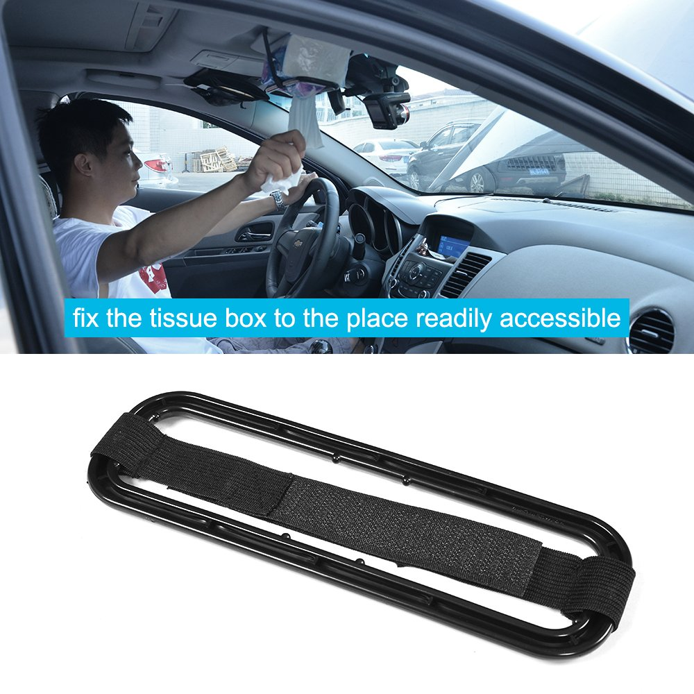MCARCAR KIT Car Accessories Sun Visor Tissue Paper Box Holder Back Seat Bracket PortableTowel Napkin Box Cover