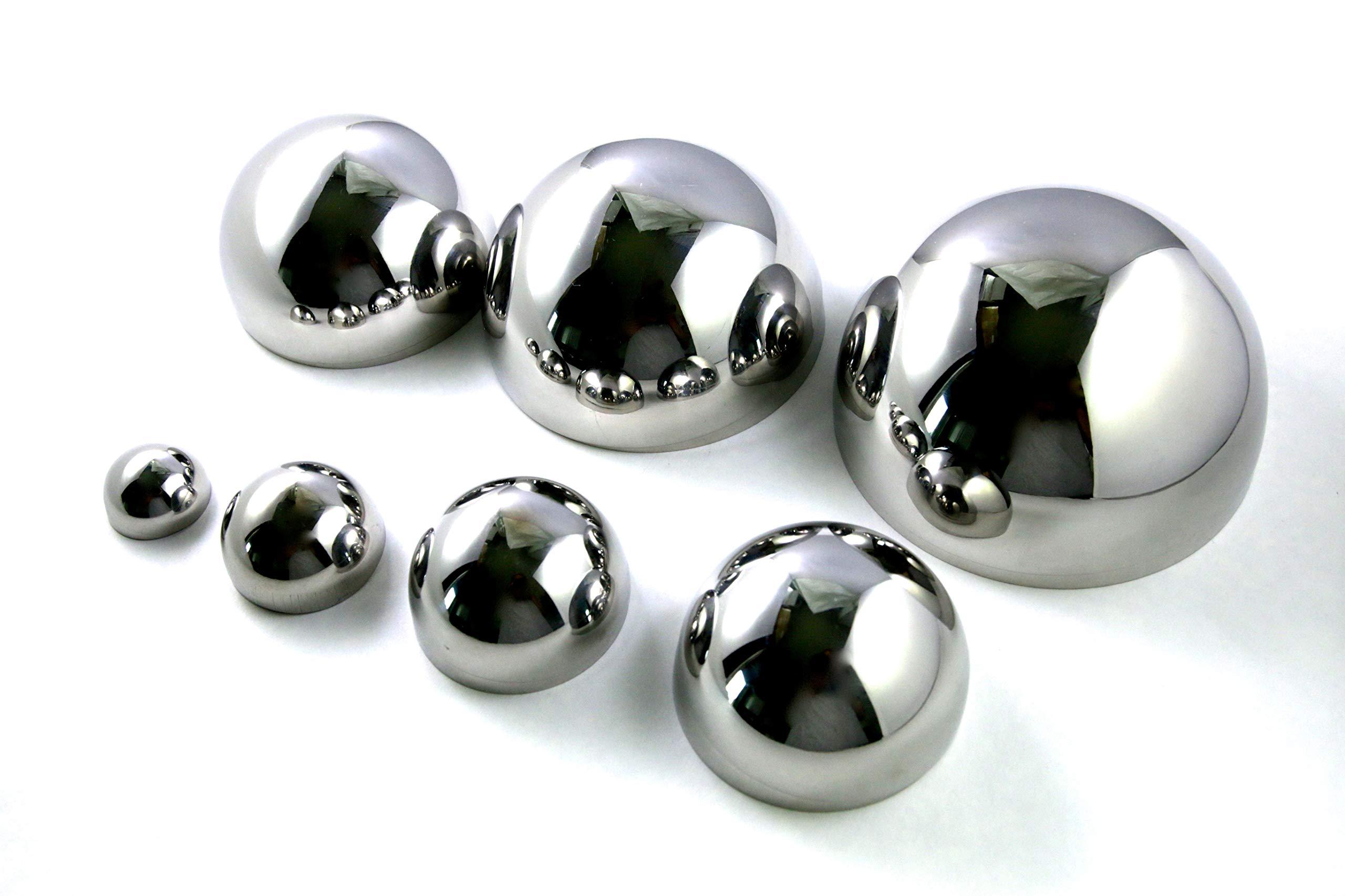 Lucky Seven Bath Bomb Mold Set, 7 Sizes (1.0'', 1.5'', 2.0'', 2.5'', 3.0'', 3.5'', 4.0'') Heavy Duty Stainless Steel, Won't Dent