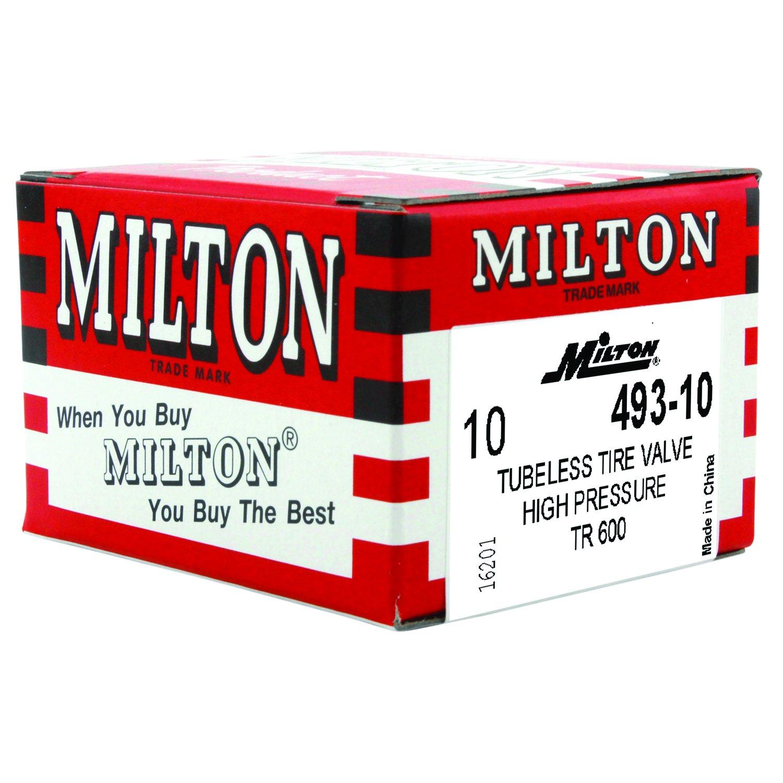 "Amazon.com: Milton 493-10 1 1/4"" High Pressure Tubeless Tire Valve - Box of  10: Automotive"
