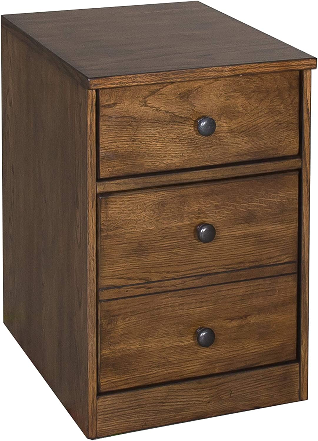 Liberty Furniture Industries Hearthstone Mobile File Cabinet, W16 x D21 x H23, Dark Brown