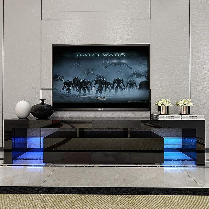 SXFYWJ Mesa TV con LED Mueble nordico TV Muebles de televisión salón Mueble Salon Adecuado para Sala de Estar, Dormitorio, Oficina 160 * 35 * 45cm: Amazon.es: Hogar