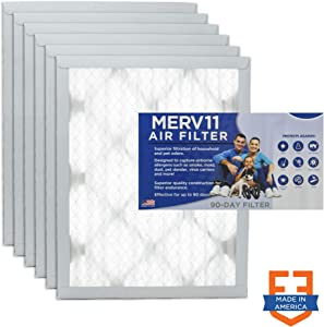 Filters Fast 14x25x1 Pleated Air Filter (6 Pack), Merv 11 | 1