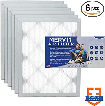 Nordic Pure 16x25x1 MERV 8 Pleated AC Furnace Air Filters 1 Pack