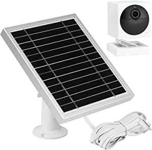 UYODM Solar Panel for Wyze Cam Outdoor | Weather Resistant, 16.5Ft Outdoor Power Charging Cable, Adjustable Mount | Not for Wyze/Wyze v3- Silver