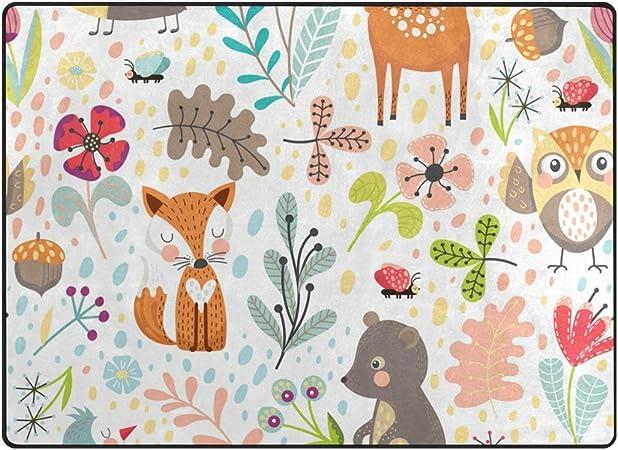 40,6/x 61/cm Badteppich cdhbh Tiere Decor Colorful Eule f/ür Kinder Bad Teppiche rutschhemmend Boden Eing/änge Outdoor Innen vorne Fu/ßmatte