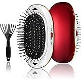 Portable Ionic Hair brush Detangler Brush set,Negative Ionic Vibrating Massage Scalp Hair Comb,Anti-Static Vibrating Comb Detangler Brush for all Hair Types
