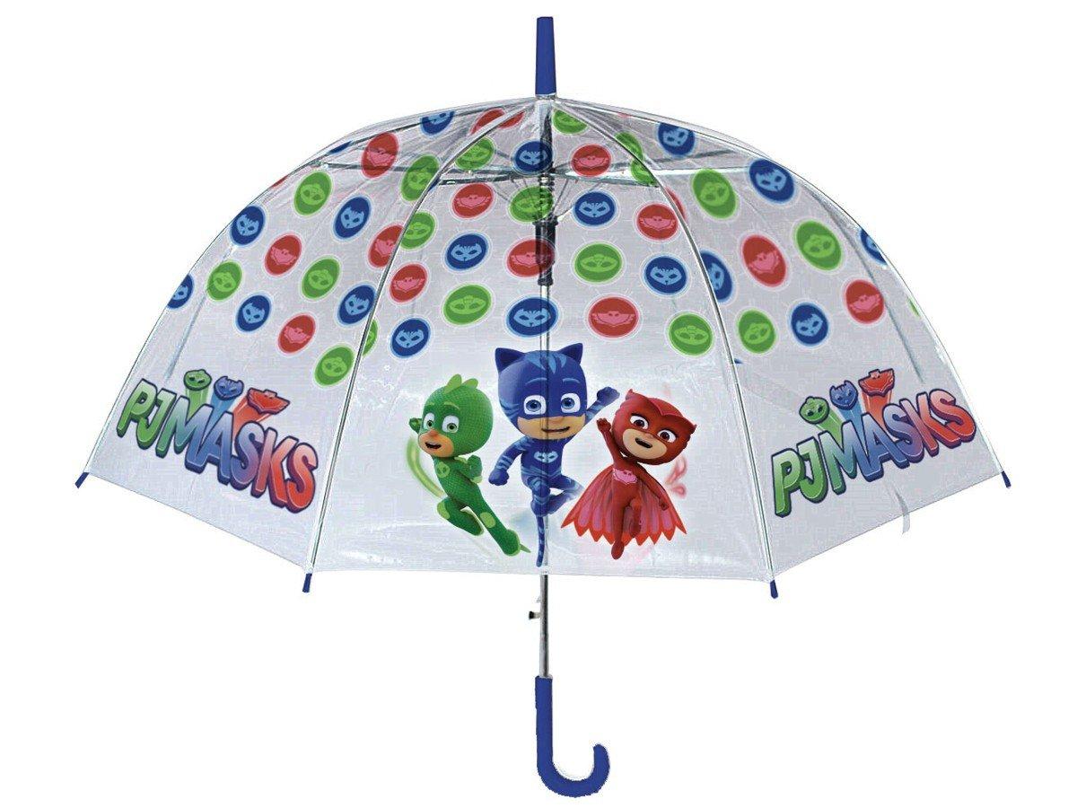 PJ Mask - Paraguas de PVC de Mango Largo Manual, 90 cm: Amazon.es: Juguetes y juegos