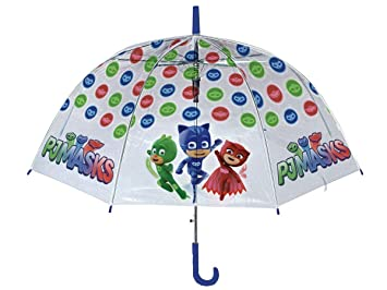 PJ Mask – Paraguas de PVC de Mango Largo Manual, ...