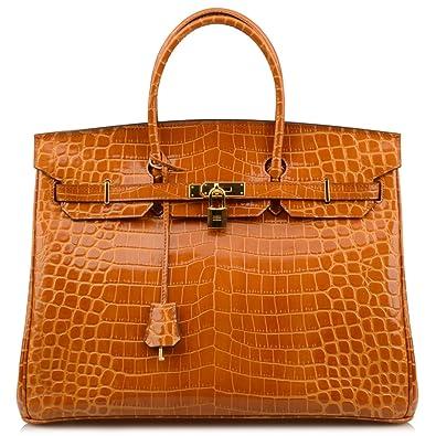 d92ac9a0152 NEW ARRIVAL Ainifeel 40cm Oversized Patent Leather Padlock Handbag laptop purse  Business Handbags (40cm OVERSIZE