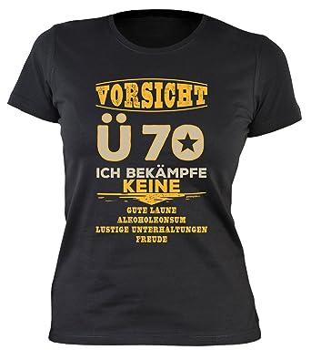 T Shirt Oma Zum 70 Geburtstag Damen T Shirt Vorsicht ü 70