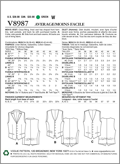 Sz. 8-26 NEW VOGUE SEW PATTERN V1711 MISSES JACKET COAT SIZES S-M-L-XL-XXL