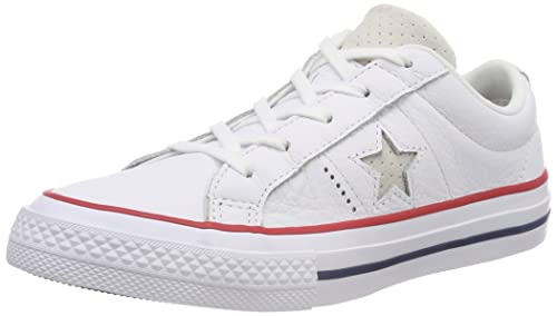 8840fe642b4 Converse Unisex Kids  One Star Ox Gym Red White Trainers  Amazon.co ...
