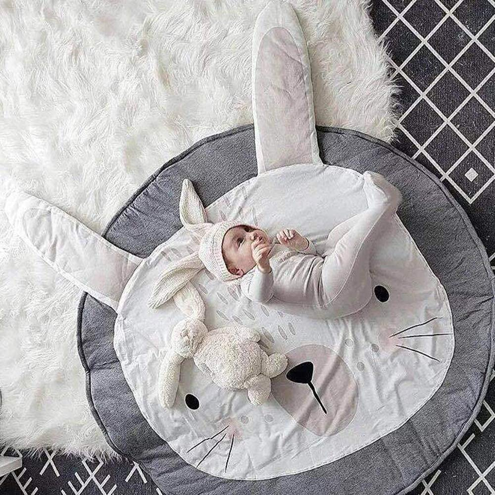 Blanketswarm Baby 0,9/x 0,9/m Soft Round Area Rugs Baby Nursery Decor Kids Room Tappeto per camerette Fox Cotone 90cm=3FT