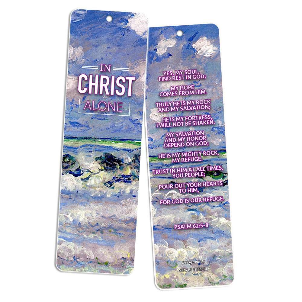 Christian Bookmarks Cards In Christ Alone 30 Pack Gift Ideas