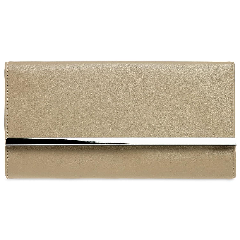 CASPAR TA393 elegante Damen Envelope Clutch Tasche Abendtasche 4251085298752