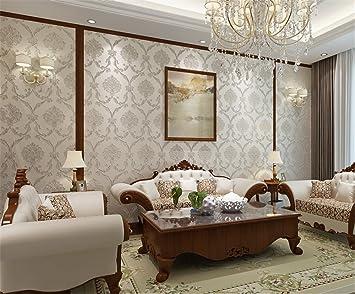 Retro Vergoldet Perle Geschnitzt 3d Tapete Wohnzimmer Schlafzimmer