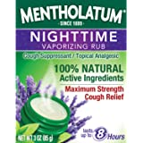 Mentholatum Nighttime Vaporizing Rub with Soothing Lavender Essence, 3 oz. - 100% Natural Active Ingredients for Maximum…