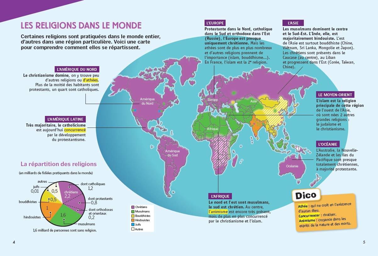 Carte Du Monde Des Religions.Les Religions Expliquees Aux Enfants Et Aux Grands Aussi