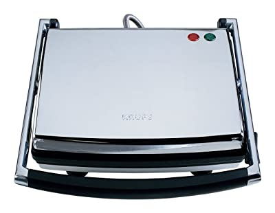 KRUPS FDE312 Universal Grill and Panini Maker with Nonstick Cooking Plates