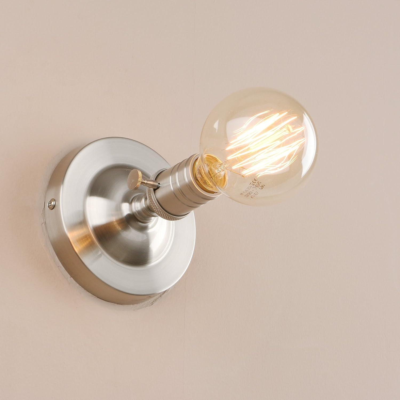 Pathson Edison E27 M/étal Plafonnier Applique en M/étal Lampe R/étro Industrial Lampe Murale R/étro Eclairage Luminaire Noir