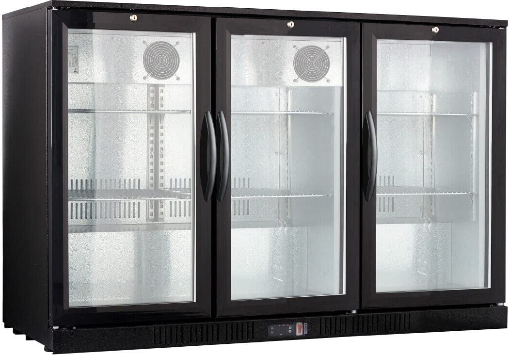 "54"" Wide 3-door Back Bar Beverage Cooler"