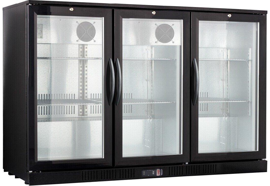 54' Wide 3-door Back Bar Beverage Cooler