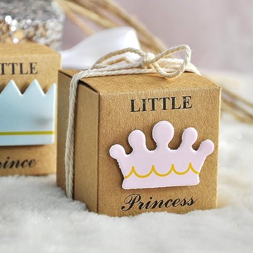 Caja para bodas, dulces, regalos, cumpleaños, baby shower MSY, Rosa, 12 unidades
