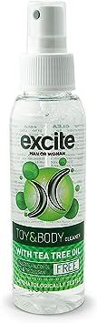 EXCITE Limpiador desinfectante de accesorios íntimos y copa menstrual. Antibacteriano y antiséptico con Aceite de Árbol de Té. Sin alcohol ni ...