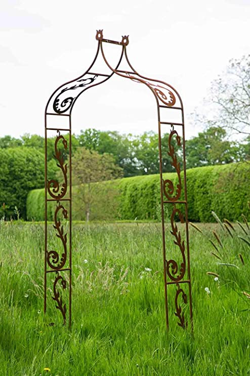 Deuba Metal Rose Arch Black 115 x 37 x 225 cm Classic Garden Arch for Climbing Plants /& Roses