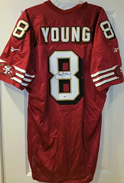 9dad0306f Image Unavailable. Image not available for. Color  Steve Young Autographed  Signed Auto Memorabilia PSA DNA 49ers Proline Authentic Jersey Hof
