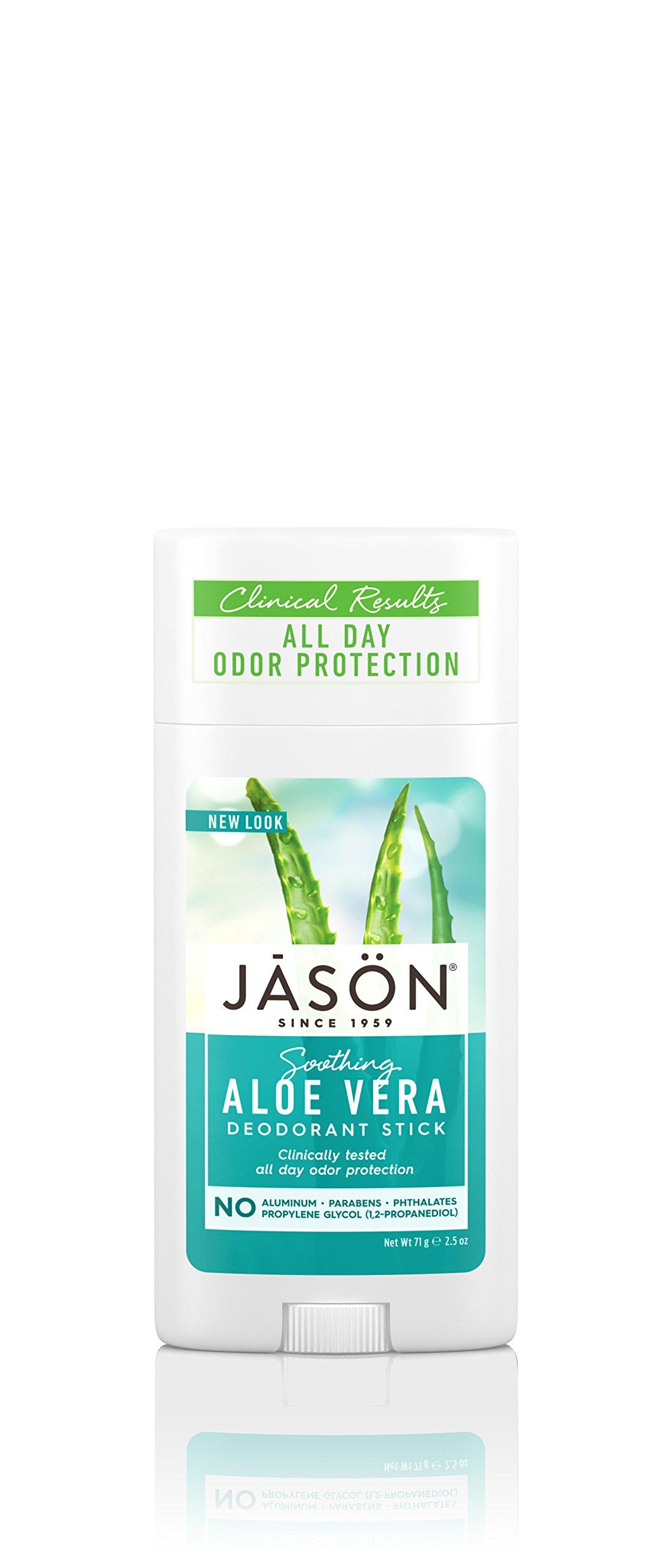 Jason Soothing Aloe Vera Aluminum and Paraben Free Deodorant Stick, 2.5 Ounce