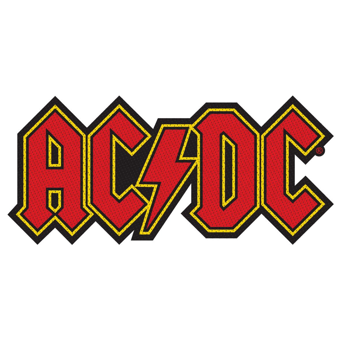 XLG AC//DC Name Logo Embroidered Iron On Rock and Roll Patch