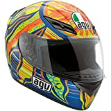 AGV K3 5-Continents Full Face Motorcycle Helmet (Multicolor, Large)