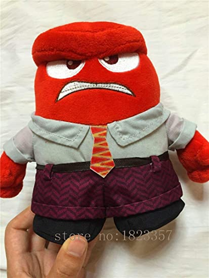 HT TOYS Tomy / Pixar Inside Out Anger 8 1/2 Plush,Quality Goods Soft Stuffed Plush Toy