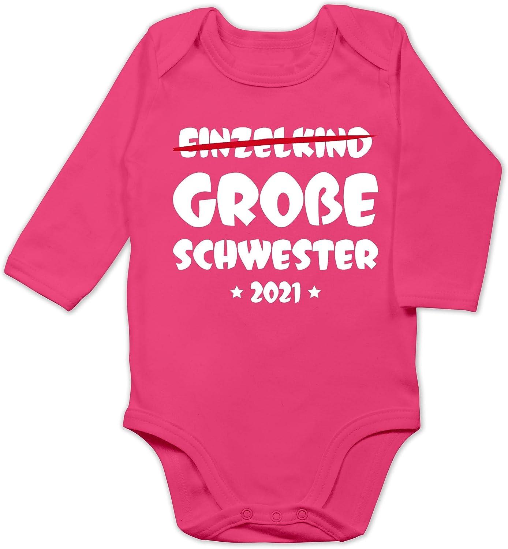 Shirtracer Geschwisterliebe Baby Baby Body Langarm Ich werde gro/ße Schwester 2020