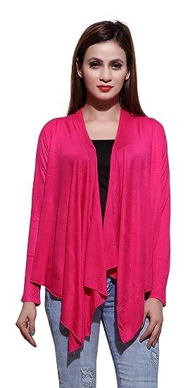 3dcebb3f38 Bfly Women s Viscose Long Shrugs(Pink)  Amazon.in  Clothing ...