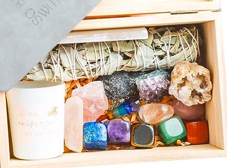 Stocking Filler Mini Chakra Gift Set 7 Crystal Stones Reiki Healing Meditation