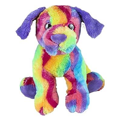 Cuddly Soft 8 inch Stuffed Rainbow Dog...We stuff 'em...you love 'em!