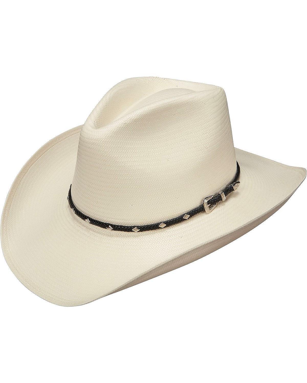 Stetson Men's Diamond Jim 8X Shantung Straw Cowboy Hat Natural 7 1/2