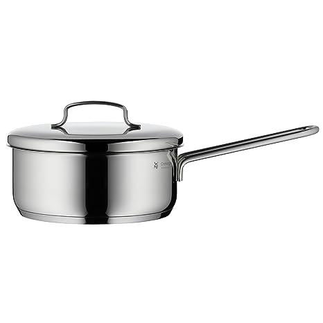 WMF Mini - Cazo con tapa Ø16cm, cromargan acero inoxidable publido, apto para todo tipo de cocina incluido inducción