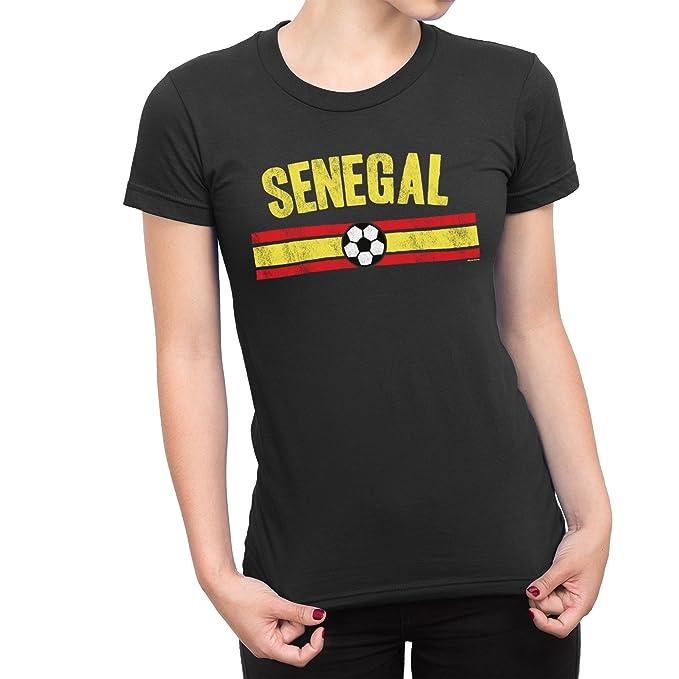 Señoras Senegal Distressed Country Fútbol Camiseta Copa del mundo2018 De Las Mujeres Sports: Amazon.es: Ropa y accesorios