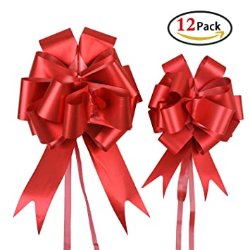 christmas bows for presents holody pull bows and ribbons bulk for xmas gifts wrapping wreaths - Red Christmas Bows