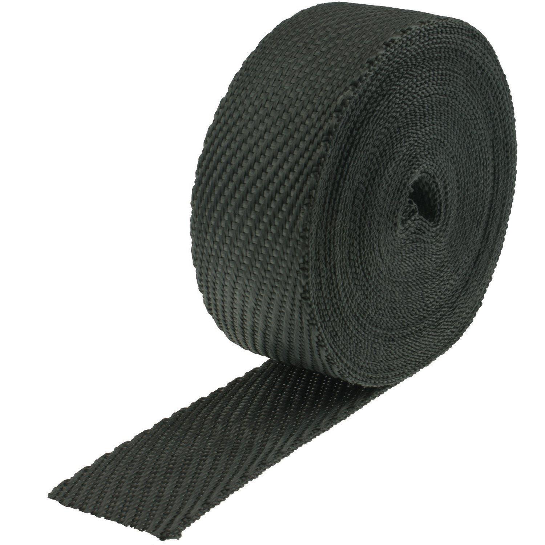 Heatshield Products 380013 Black 2'' Wide x 50' Roll Cobra Skin Exhaust Wrap